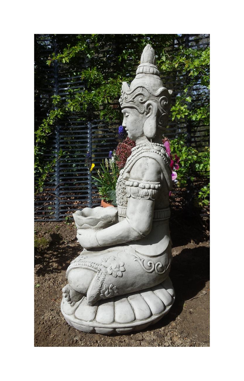 Lotus Buddha Statue Medium Onefold Uk