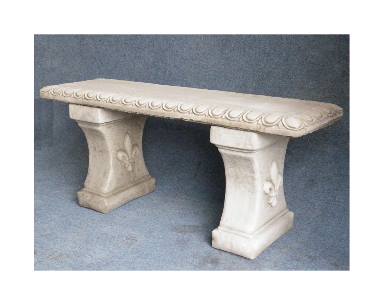 straight stone garden bench onefolduk