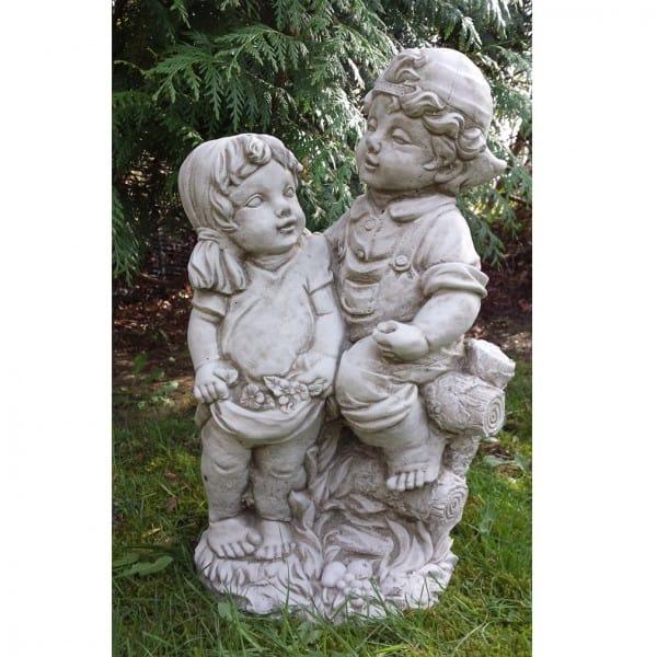 Children Garden Statue Sweethearts