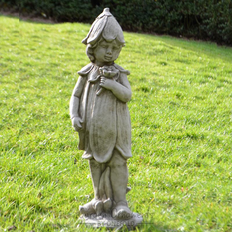 Bluebell Fairy Cast Stone Garden Ornament Statue Patio